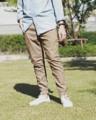 กางเกงทรง Jogger สีกากี ผ้า Cotton ญี่ปุ่น เนื้อนิ่ม เบา ใส่สบาย ไม่ร้อน  #Japan Canvas Jogger Pants #denim_studio