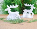 White Reindeer Candle Holders เชิงเทียนกวางสีขาว ขายคู่กันนะคะ งานโลหะ สีขาว  Size : กว้าง 5.5cm. ยาว 7.5cm. สูง 8cm. เส้นผ่านศูนย์กลางที่วางเทียน 4cm. Weight : 170 g. (น้ำหนักรวม 2 ชิ้น) Price : 450 บาท http://goo.gl/6EdArB  Contact and order  Line : toipotter IG : banchulee Tel. : 092 827 2849 Facebook : Ban Chulee Shopee : shopee.co.th/banchulee Email : banchuleeshop@hotmail.com www.banchulee.com  Vintage home decor on Ban Chulee for your sweet home . .  #candleholder #metal #homedecor #shabbychic #Vintage #white #เชิงเทียน #โลหะ #สีขาว #แต่งบ้าน #วินเทจ #กวาง #Reindeers Candle Holder เชิงเทียนกวางคู่ #banchulee