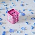 Pink tin money box กระปุกออมสินสีชมพู งานสังกะสี  Size : กว้าง 5cm. สูง 6cm. Price : 175   #box #moneybox #pinkybank #storage #tin #zakka #home #decor #กระปุกออมสิน #กล่อง #สังกะสี #แต่งบ้าน  #Pink tin money box  #banchulee