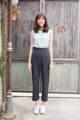Tea Chest Pants (กางเกงขายาว ทรงสวย แพทเทิร์นดีงามค่ะ ใส่แล้วหุ่นดี ไม่ต้องใส่ซับเลย) Color : black Fabric : japan polyester (ผ้าญี่ปุ่นเนื้อดี เป็นทรงมีน้ำหนัก ใส่แล้วเก็บสะโพกค่า textureน่ารัก) Size : S (24-25) สะโพกได้ถึง 36-37 / M (26-27) สะโพกได้ถึง 38-39 / L (28-29) สะโพกได้ถึง 40-41  length 37.5 inches in every sizes Price : 1190