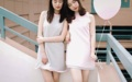 """Dress : EMMA fabric : crape twin with stretch fabric (ผ้ายืดกับผ้าเครปทวิล) color : grey(right) , pearl pink(left) size size XS : chest 32"""" , waist-hip free , Length 32"""" size S : chest 34"""" , waist-hip free , Length 33"""" size M : chest 36"""" , waist-hip free , Length 33"""" Price : 790."""