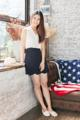 Protea skirt  Color : navy black Fabric : japan polyester (ผ้าญี่ปุ่นเนื้อดี สวยมากๆค่า ลื่นๆ มีดีเทลตัดต่อขอบโค้ง scallop รอบตัว ทรงน่ารัก ใส่แล้วทำให้เก็บทรงให้ผอมเพรียวค่ะ ) Size : S (24-25) / M (26-27)/ L(28-29), length 17 inches in every sizes  *กระโปรงใส่ซับในให้อย่างดีค่า Price : 850