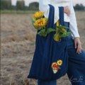 Sunflower Denim Tote Bag