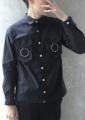 -Many Moons Ago- Collection  Name: 'Brooklyn' Double Moon Shirt Description: เสื้อเชิ้ตแขนยาว ผ้าลินิน ระบายอากาศได้ดี มีดีเทลกระเป๋าทรง 3 มิติ มีก้นกระเป๋า ห้อยด้วยวงแหวนสีเงิน ตกแต่งด้วยกระดุมสีเงินทั้งตัว ชายเสื้อตัดเป็นเส้นตรงคม ใส่ตัวเดียวหรือใส่เป็นแจ็คเก็ตก็ได้ครับ (วงแหวนสามารถถอดออกได้)  Color: Black | White Fabric: Cotton Linen Size:  (1) Size S: รอบอก 37 นิ้ว ความยาวเสื้อ 25.5 นิ้ว (2) Size M-L: รอบอก 41 นิ้ว ความยาวเสื้อ 26 นิ้ว (3) Size XL: รอบอก 45 นิ้ว ความยาวเสื้อ 28 นิ้ว Price: 850 บาท   ค่าจัดส่งแบบลงทะเบียน 30 บาท ค่าจัดส่งแบบด่วนพิเศษ EMS 50 บาท  ------------------------------------------------------- #men #ผู้ชาย #เสื้อผู้ชาย #เสื้อเชิ้ตผู้ชาย #เสื้อเชิ้ต #เสื้อเชิ้ตสีดำ #เสื้อสีดำ