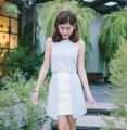 """#rg0108 : exclusive blue skirt fabric : metalic  colour : blue and off-white  Size chart waist : s 23-24"""", m 25-26"""" hip : s 33-34"""", m 35-36"""" length : s 16"""", m 17"""""""