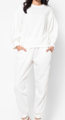 long pants (WHITE) เอว 42 นิ้ว เป้า 25.2 นิ้ว สะโพก 45 นิ้ว ปลายขา 16 นิ้ว ยาว 37.5 นิ้ว