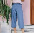 "80's mom jeans.  Real denim 💕 Size Chart  S : เอว 25 สะโพก 35-36 ยาว 29""  M : เอว 27 สะโพก 37-38 ยาว 29.5""  L : เอว 29 สะโพก 39-40 ยาว 30""  ทำจากผ้ายีนแท้ๆ ค่ะ  #Victor (jeans)  #summerdazestore"