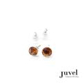 Juvel Topaz 0.8 Earrings  Product Details:  Dimension: 0.8 cm  Gems/Crystal: Swarovski Crystal  Color: Topaz  Packaging: Black Velvet Pouch