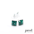 Juvel Emerald Square 0.9 Earrings  Product Details:  Dimension: 0.9 x 0.9 x 0.8 cm  Gems/Crystal: Swarovski Crystal  Color: Emerald  Packaging: Black Velvet Pouch