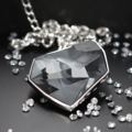 Juvel Fancy Silver Night Necklace Rhodium Plate  Product Details:  Dimension:   Overall Chain Length + Extension Chain: 42.5 cm  Gems/Crystal: Swarovski Crystal  Crystal Size: 38.0 mm x 33.0 mm   Color: Silver Night  Packaging: Juvel Signature Black Box