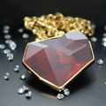 Juvel Fancy Red Magma Necklace 14K Gold Plate  Product Details:  Dimension:   Overall Chain Length + Extension Chain: 42.5 cm  Gems/Crystal: Swarovski Crystal  Crystal Size: 38.0 mm x 33.0 mm   Color: Red Magma  Packaging: Juvel Signature Black Box