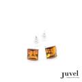 Juvel Topaz Square 0.9 Earrings  Product Details:  Dimension: 0.9 x 0.9 x 0.8 cm  Gems/Crystal: Swarovski Crystal  Color: Topaz  Packaging: Black Velvet Pouch