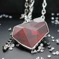 Juvel Fancy Red Magma Necklace Rhodium Plate  Product Details:  Dimension:   Overall Chain Length + Extension Chain: 42.5 cm  Gems/Crystal: Swarovski Crystal  Crystal Size: 38.0 mm x 33.0 mm   Color: Red Magma  Packaging: Juvel Signature Black Box