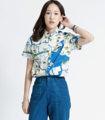 """Mr.449 เสื้อเชิ้ตผู้หญิงแขนสั้น ลาย Tokyo Map สีฟ้าครีม XS, S ราคา 420 บาท จัดส่ง EMS ฟรี  เสื้อเชิ้ตผู้หญิงแขนสั้น พิมพ์ลาย Tokyo Map สีฟ้า พื้นสีครีม งานพิมพ์แน่นทั้งตัว ติดกระดุมที่ปกเสื้อ ผ้า Cotton 100%  นางแบบใส่ Size XS สูง 165cm Size............XS / S ไหล่กว้าง.....15.5"""" / 16"""" รอบอก.........36"""" / 38"""" เสื้อยาว........25"""" / 26"""" แขนกว้าง.....8"""" / 8.5"""" แขนยาว.......6.5"""" / 7"""""""