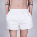 """:: ผ้า Cotton Spandex  ใส่สบาย :: ยาว 13 """"   รอบขา 24 """"   :: Free Size 26 """" - 40 """"  ด้านในมีเชือก"""